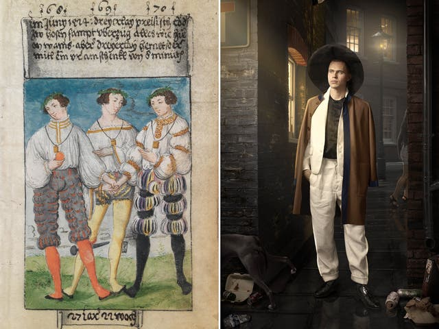 'The First Book on fashion', commissioned by 16th-century accountant Matthäus Schwarz, has inspired a new set of photographs of fictional male dandies, by artist-photographer Maisie Broadhead