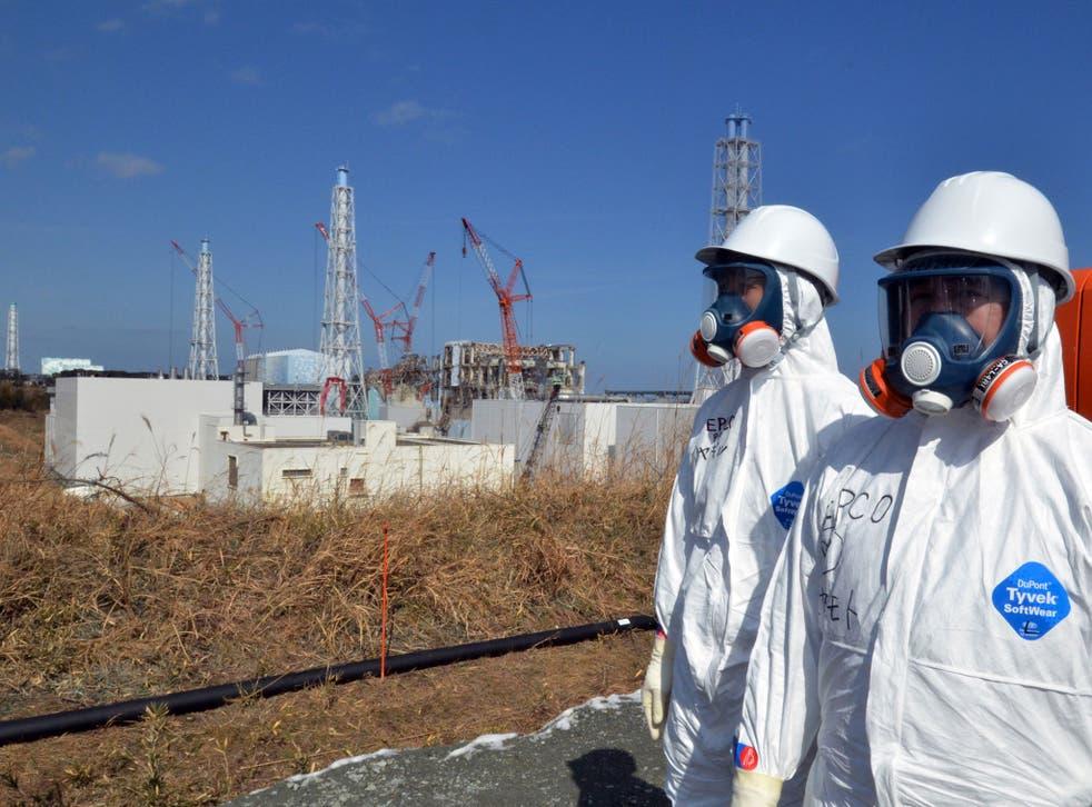 The stricken Fukushima nuclear plant