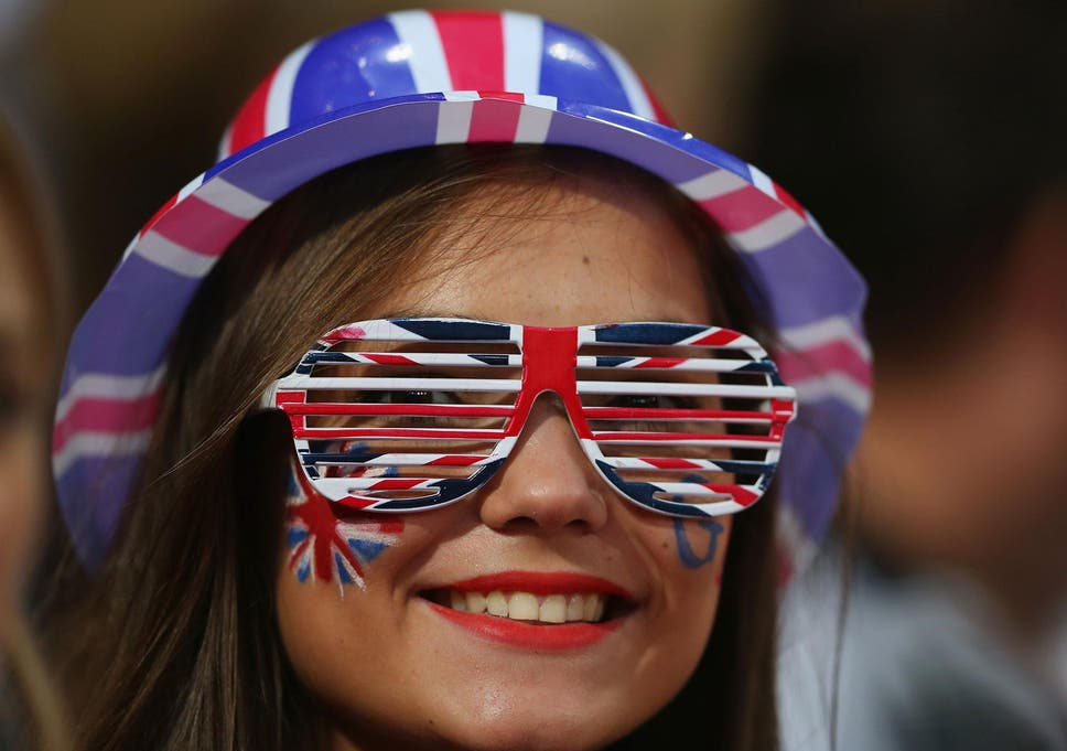 870c6d59b22c A spectator wears Union flag glasses on day 4 of the London 2012 Paralympic  Games at