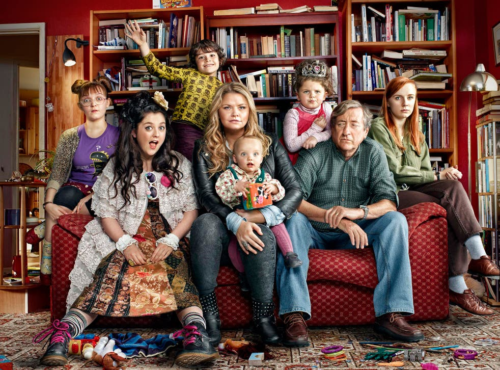 Molly Risker, Helen Monks, Caden-Ellis Wall, Rebekah Staton, Erin Freeman, Philip Jackson and Alexa Davies in 'Raised by Wolves'