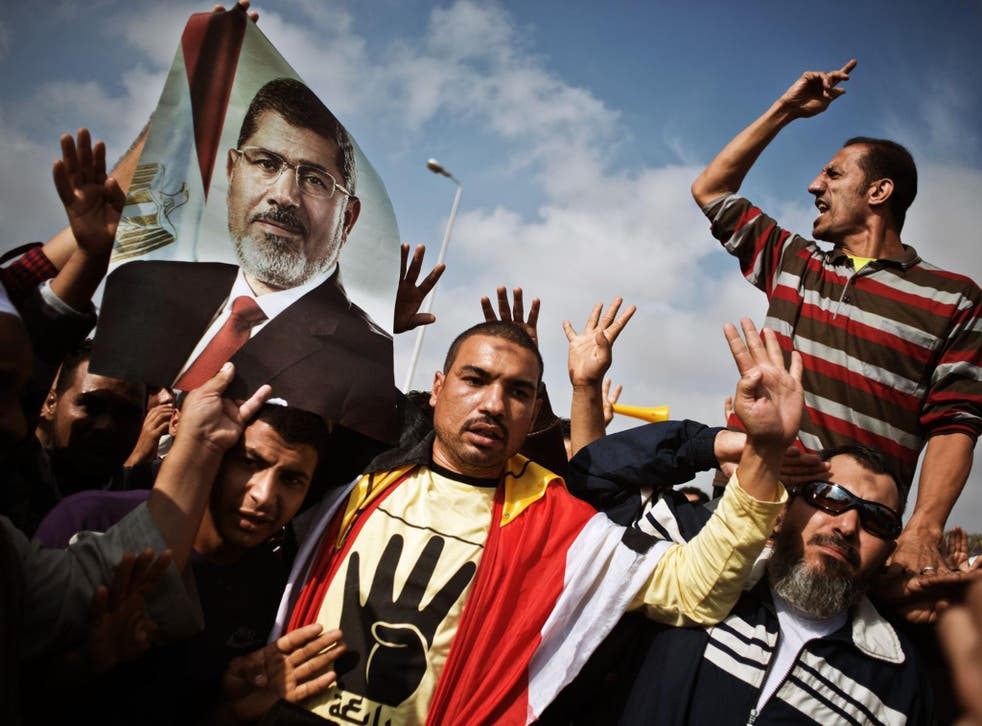 Supporters of the Muslim Brotherhood, which has been labelled a terrorist organisation by the current Egyptian regime