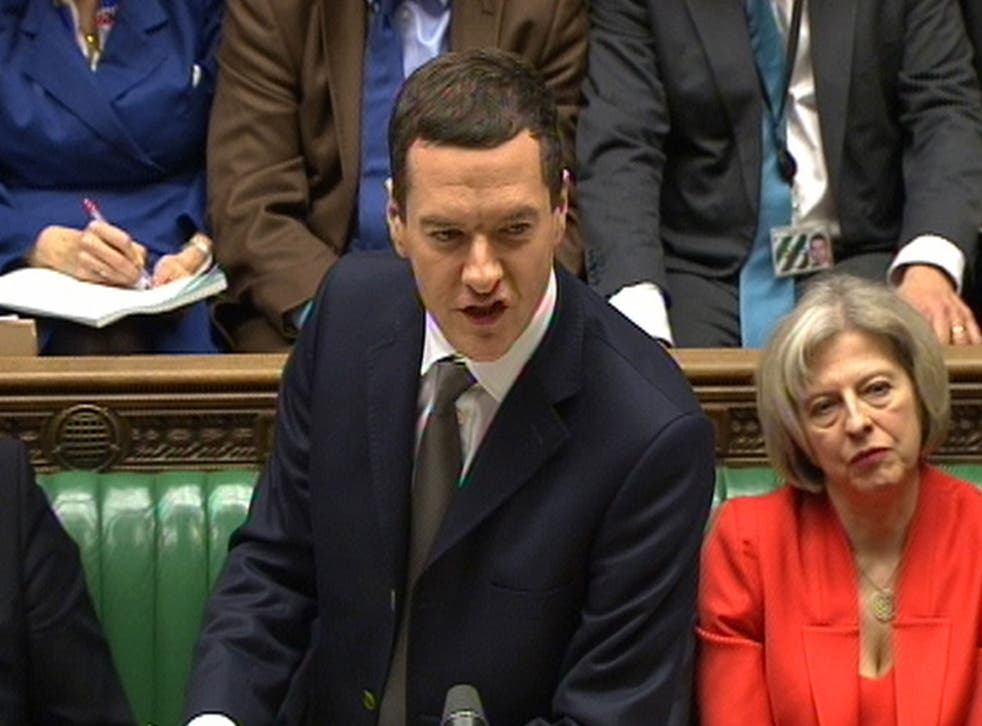 Chancellor of the Exchequer George Osborne delivers his Budget statement to the House of Commons, London