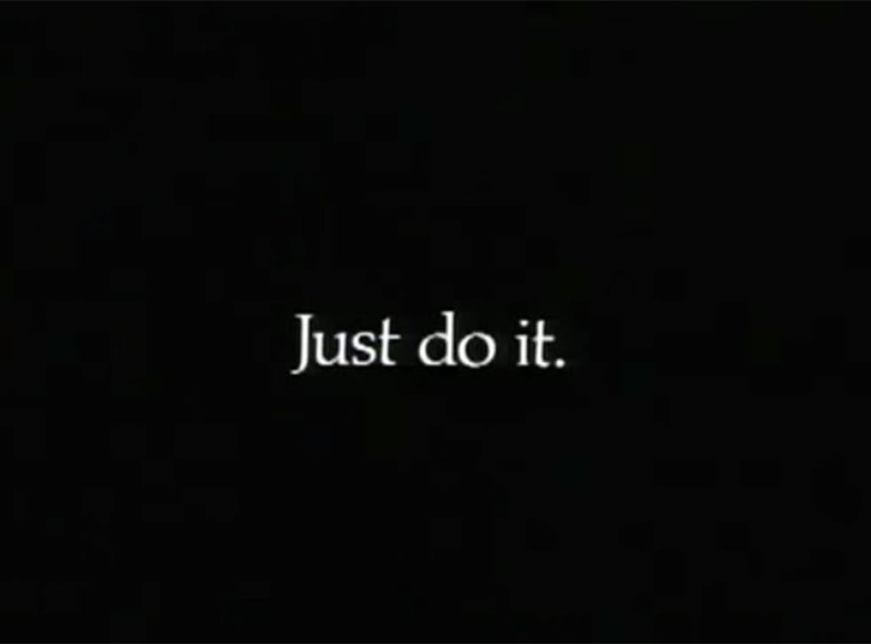 First appearance of Nike's 'Just Do It' logo in 1988