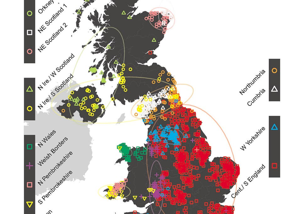 Map Of England In 9th Century.New Genetic Map Of Britain Shows Successive Waves Of Immigration