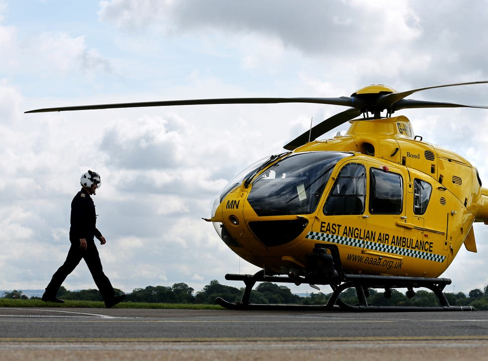 East Anglian air ambulance will receive a share of a total of £10m of extra funding