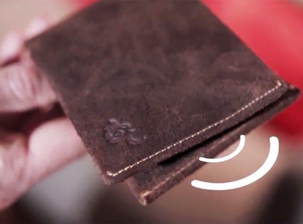 The Woolet - a bluetooth-powered, self-charging wallet