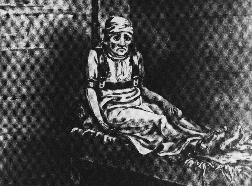 A sketch of William Norris, a patient at Bethlem Royal Hospital in London, circa 1814