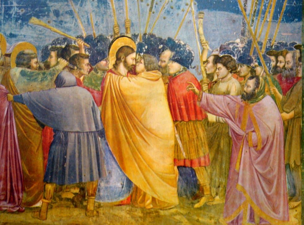 Betrayal: 'The Kiss of Judas' by Giotto Di Bondone (c1266-1337)