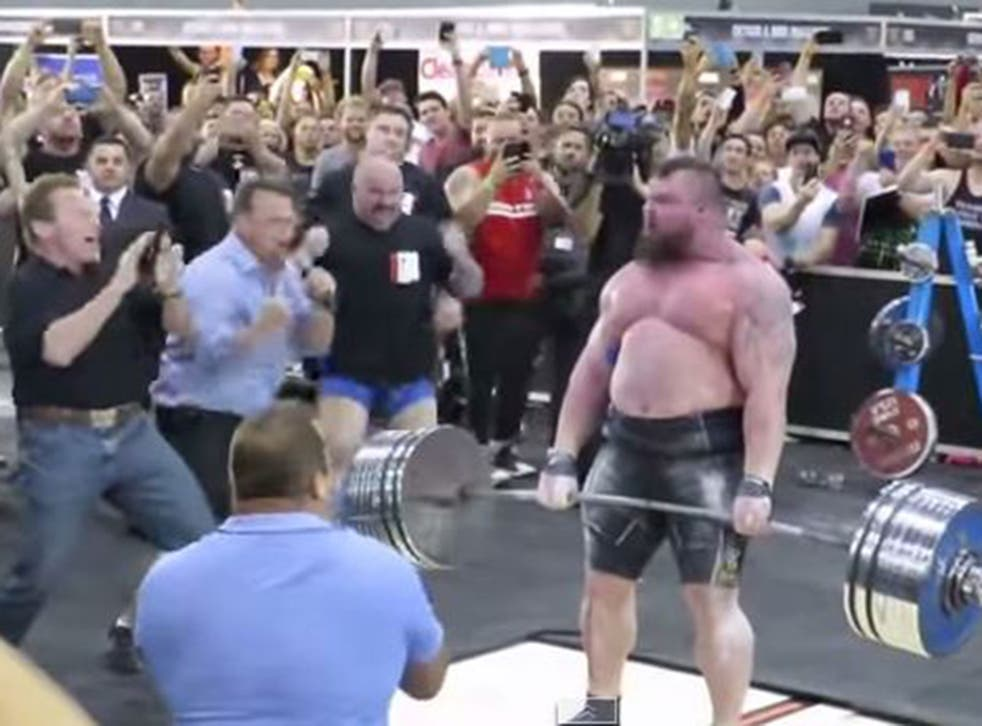Eddie Hall breaks the deadlift world record as he's cheered on by Arnold Schwarzenegger