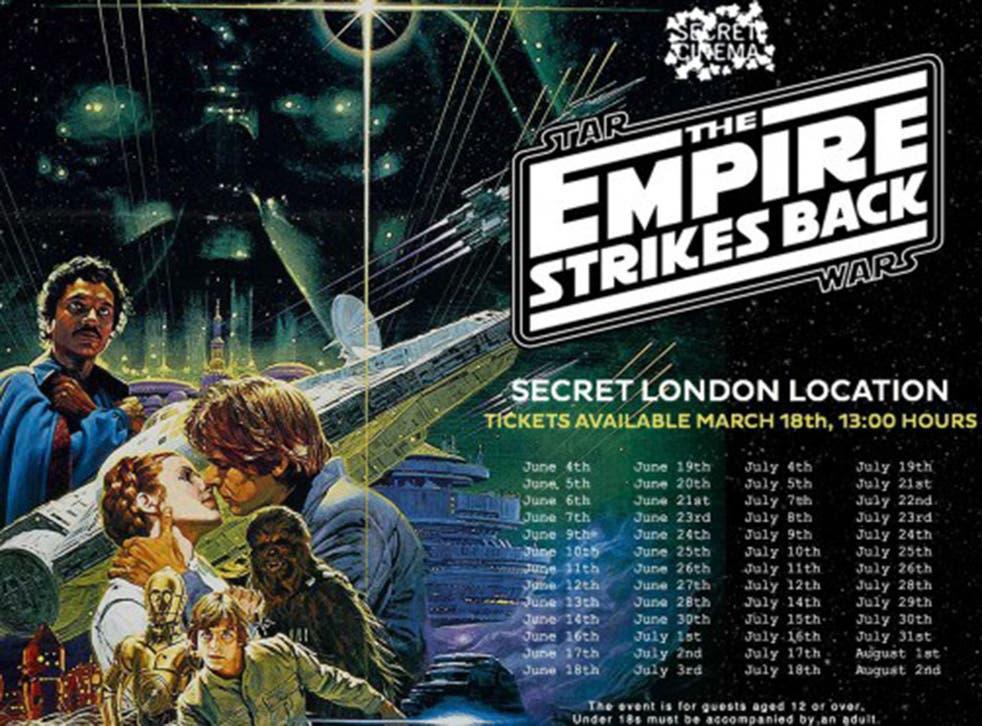 Secret Cinema will screen Star Wars: The Empire Strikes Back this summer
