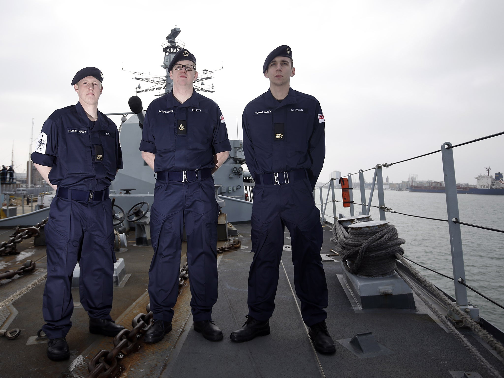 New Navy Uniform Compared To A Fire Retardant Bin Liner