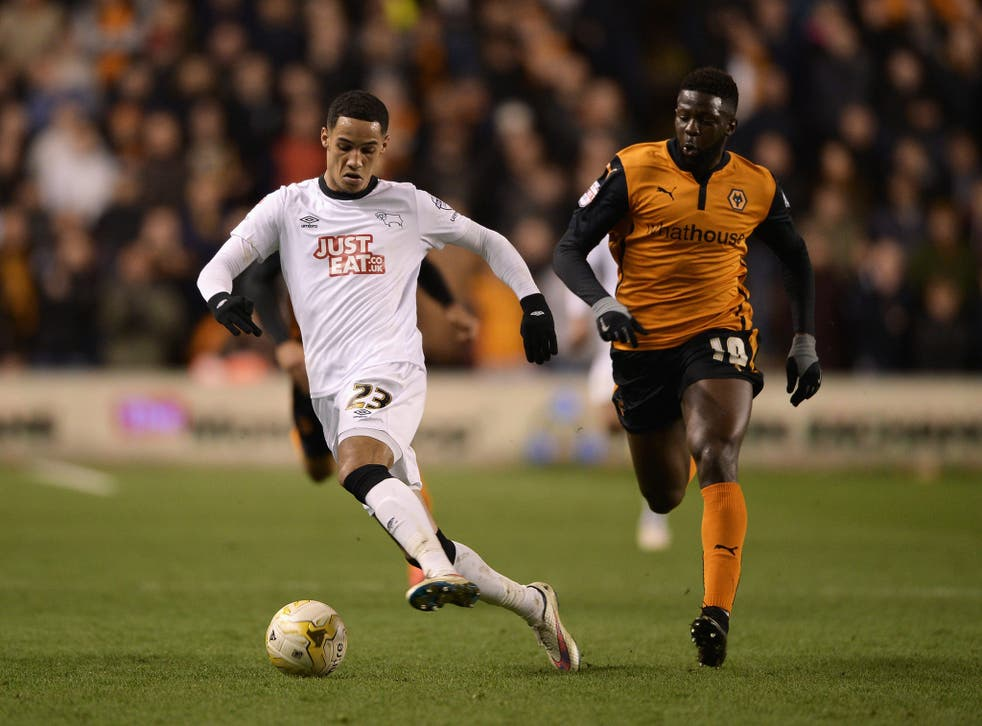 Tom Ince had a goal disallowed during a disastrous night for Derby County
