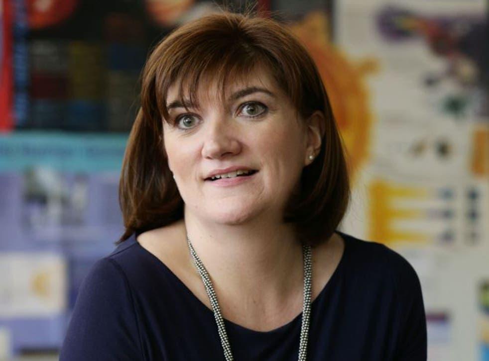 The Education Secretary, Nicky Morgan