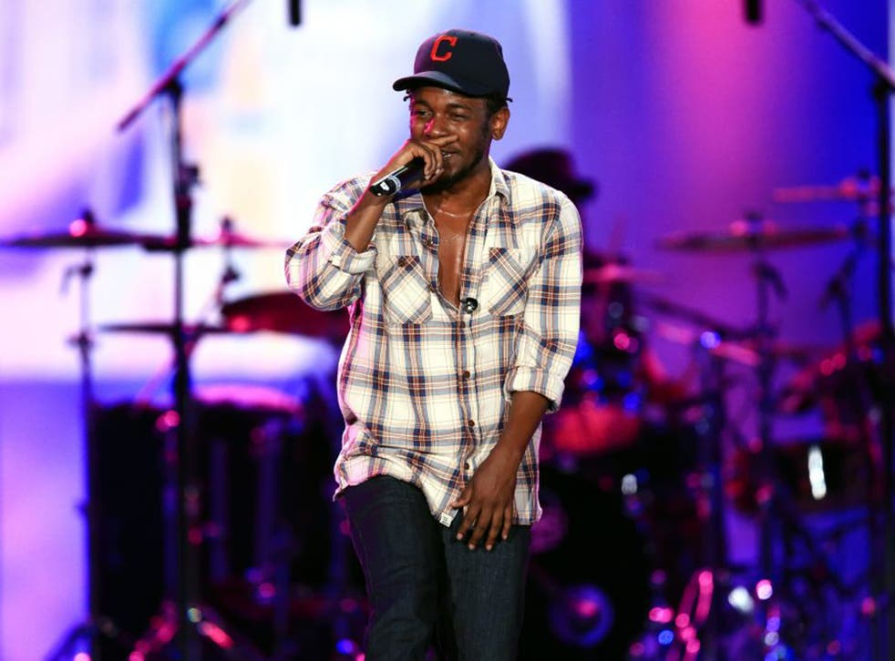 Kendrick Lamar at the Made in America Festival in Los Angeles last summer