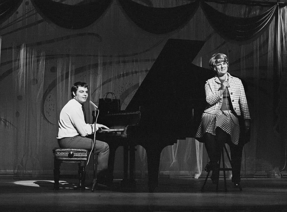 Trent and her husband and musical partner Tony Hatch rehearsing at the London Palladium in 1969