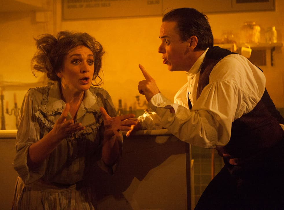Siobhan McCarthy as Mrs Lovett and Jeremy Secomb as Sweeney Todd