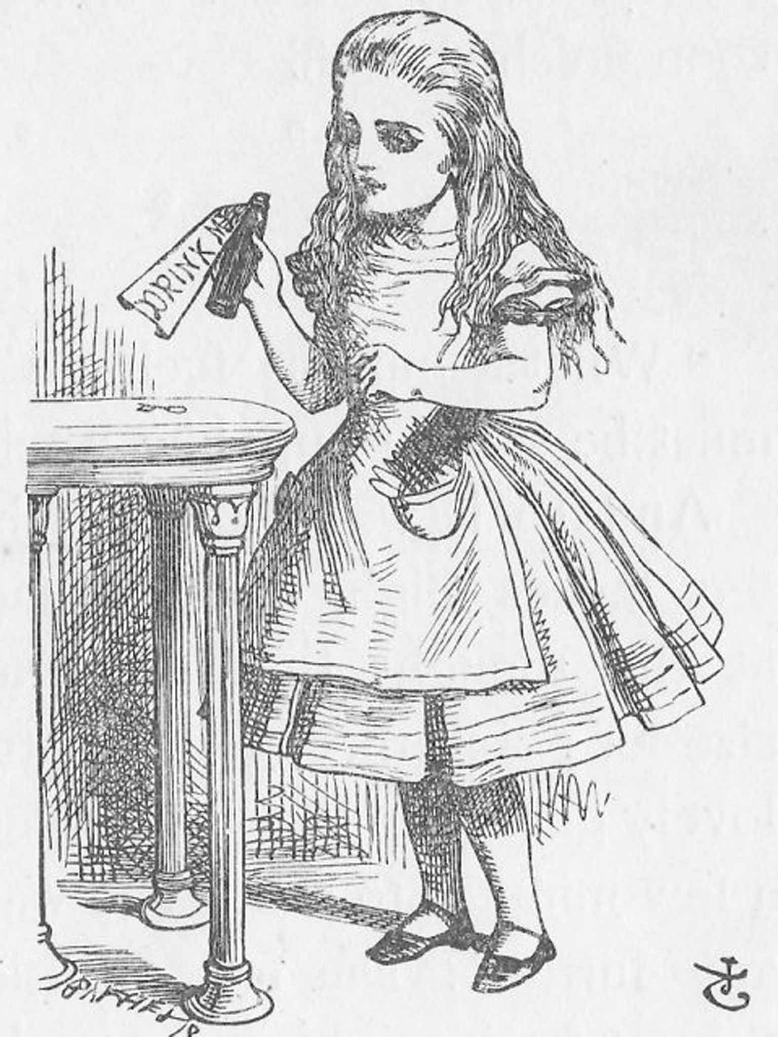 One of sir john tenniels drawings of alice