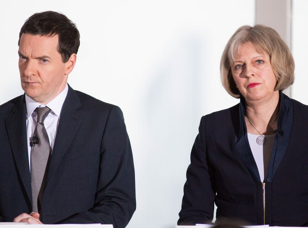 George Osborne and Theresa May have been tipped by Mr Cameron as possible successors (Getty)