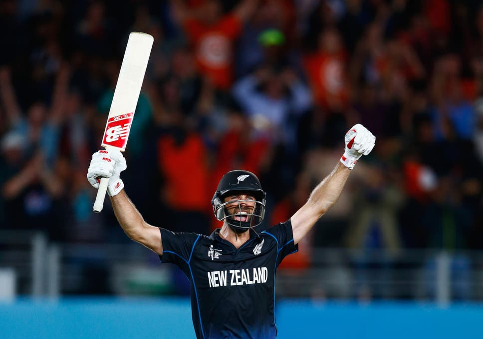 958e4d91932 Grant Elliott celebrates hitting a six to win the Cricket World Cup  semi-final against