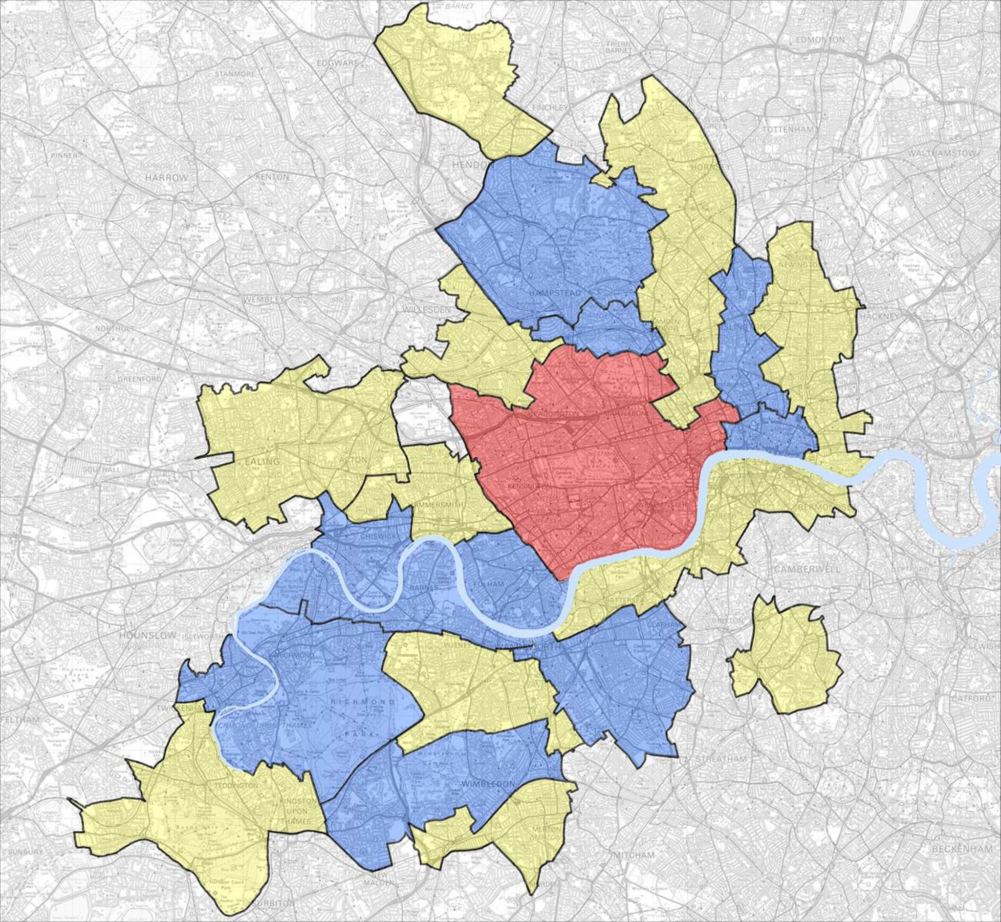 Map Of Uk London.Map Of Middle Class London Reveals Zones Where Only The Super Rich