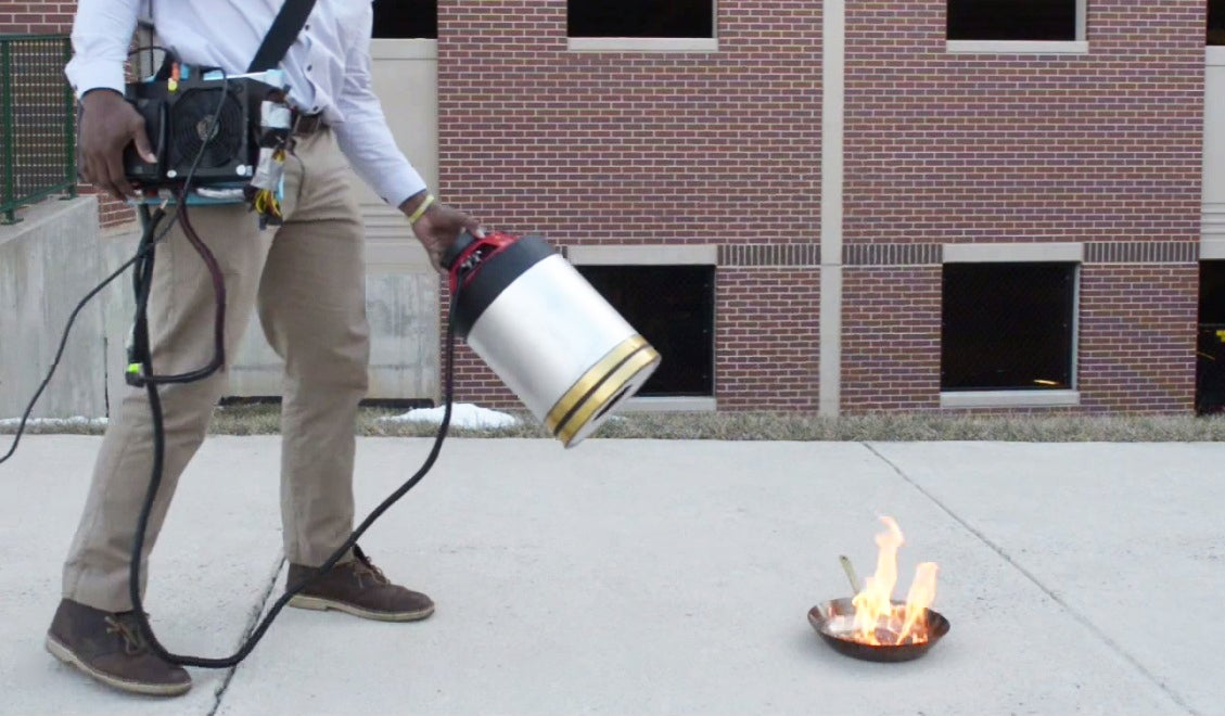This new sound-based fire extinguisher puts out flames by dropping ...