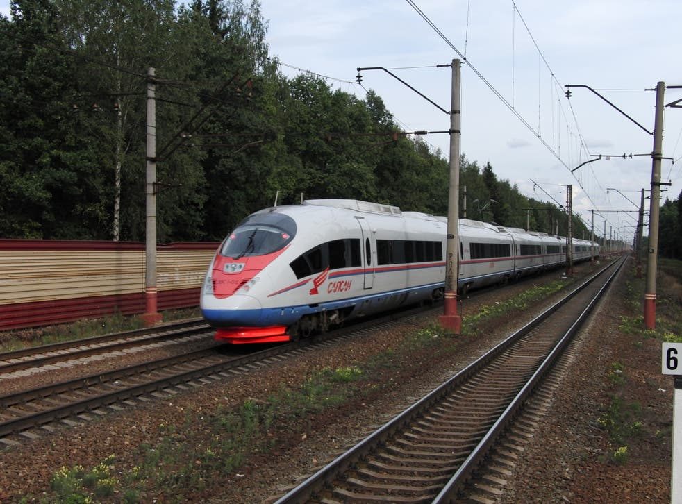 Russia's fledging high speed rail network currently connects St Petersburg and Moscow