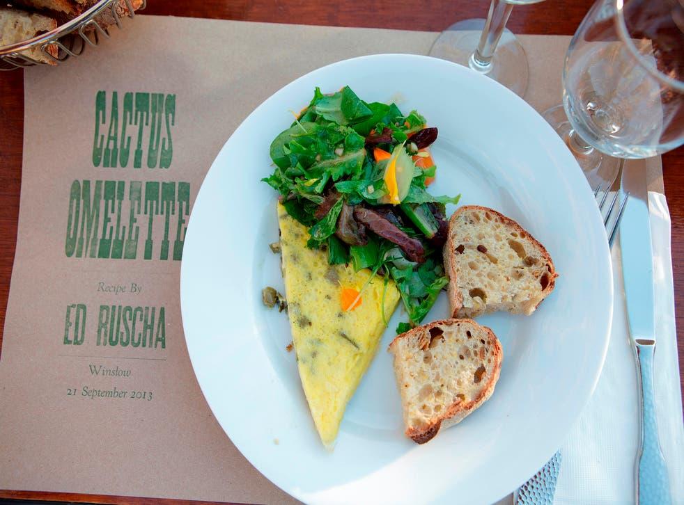 Ed Ruscha's cactus omelette