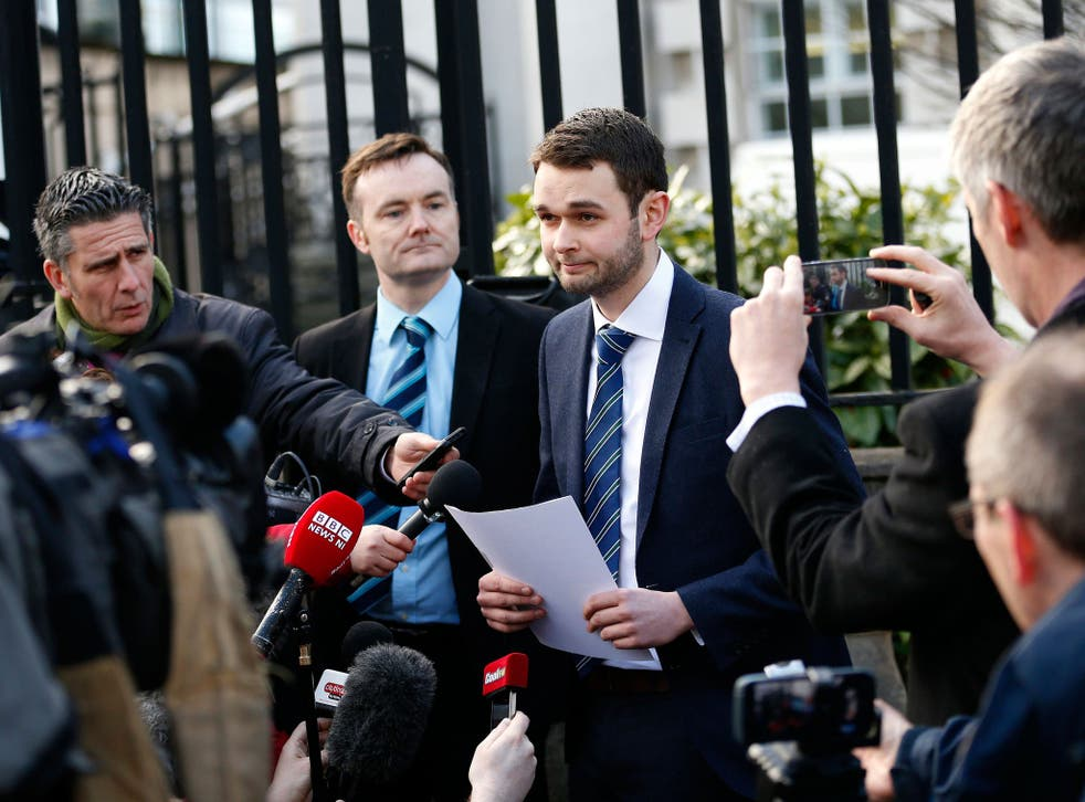Daniel McArthur, the general manager of Ashers bakery, outside Belfast's County Court last year