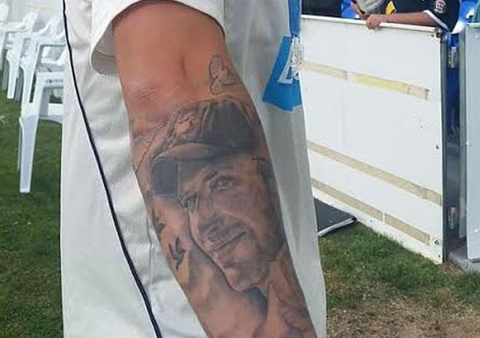 f933bdf98 Matthew Wade tattoo: Australian cricketer gets image of Phillip ...