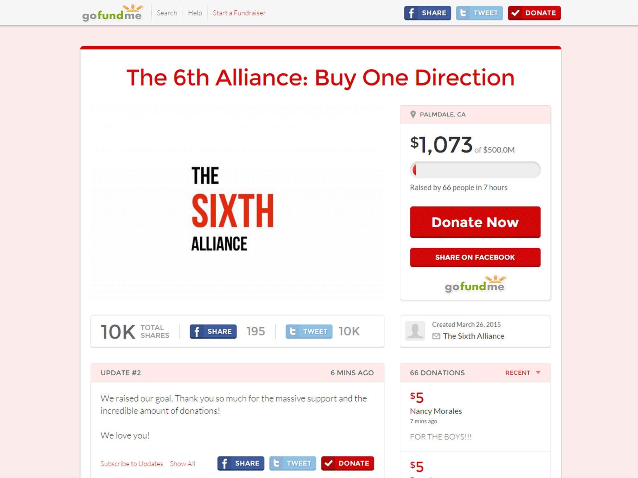One Direction fans campaign to buy the band after Zayn Malik