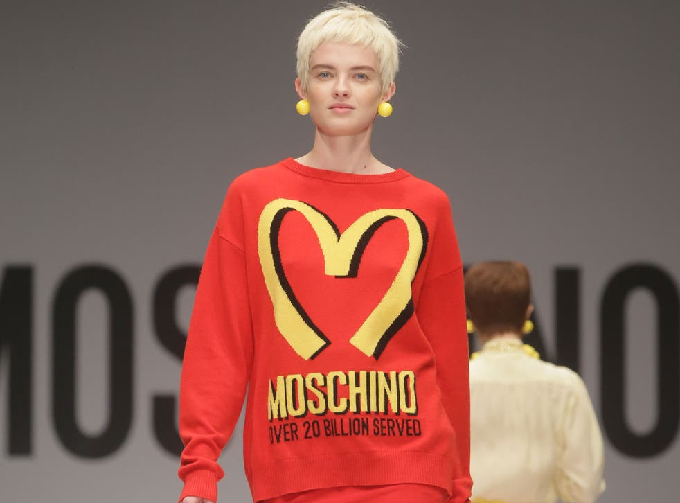 McDonald's-inspired Moschino collection by Jeremy Scott for his autumn/winter 2014 collection