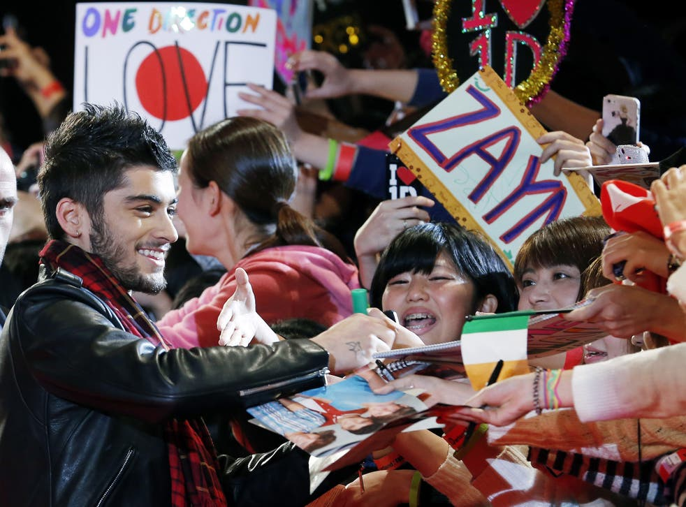 Story of his life: Malik has found his admirers' attentions too much to bear