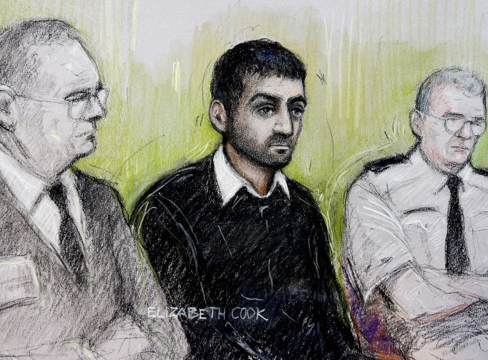 Erol Incedal (centre) who has been cleared of targeting Tony Blair and his wife Cherie as part of a terrorist plot