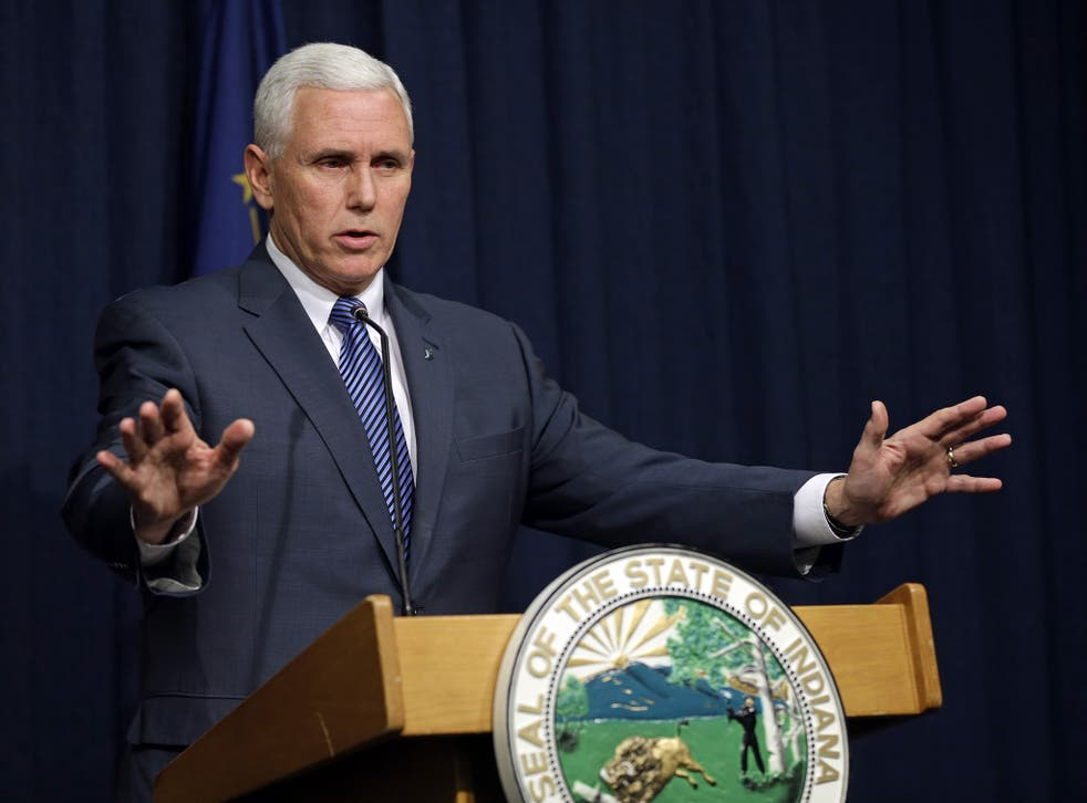 Mike Pence, who has previously opposed needle exchanges, announced the programme yesterday