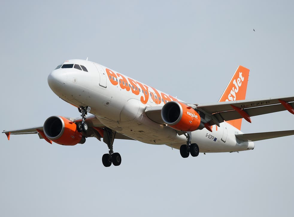 """EasyJet was among the first to say it would adopt a """"rule of two"""" policy from today"""