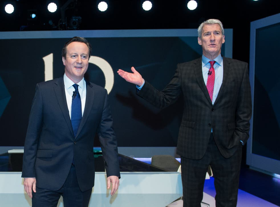 Prime Minister David Cameron is interview by Jeremy Paxman