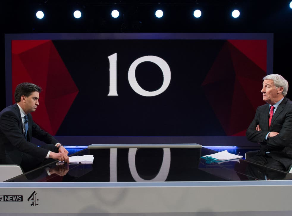 Ed Miliband contends with difficult questions from Jeremy Paxman