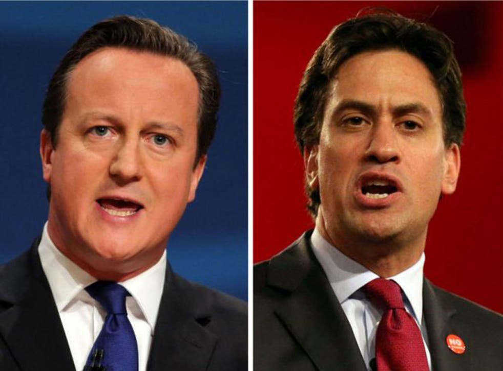 Cameron and Miliband went head-to-head in the live televised debate last night