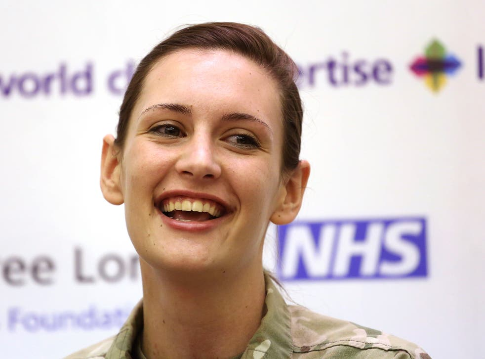 """Corporal Anna Cross said that medical staff at the Royal Free were """"the best in the world"""""""