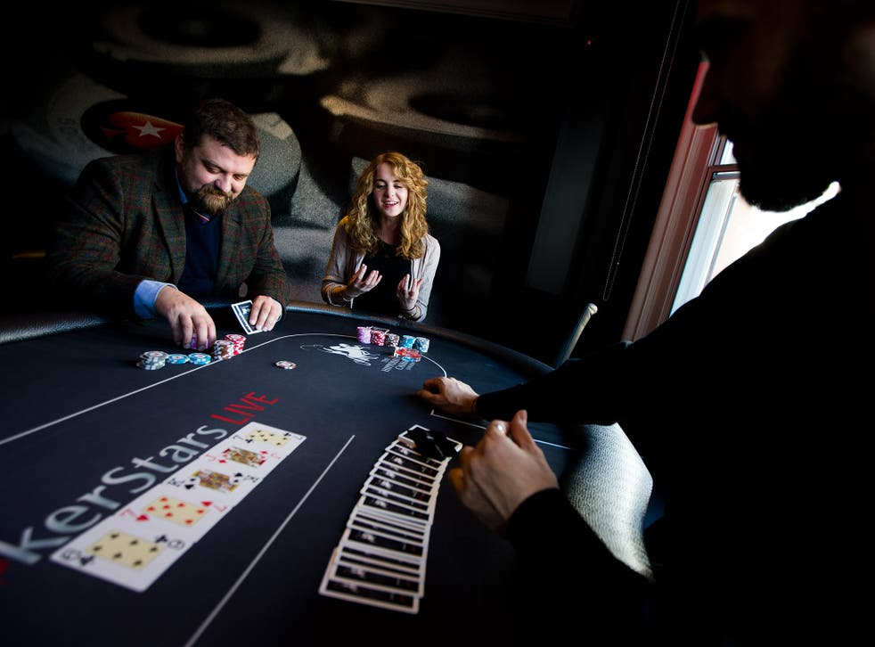 Rachael Pells plays poker at the Hippodrome Casino in Leicester Square