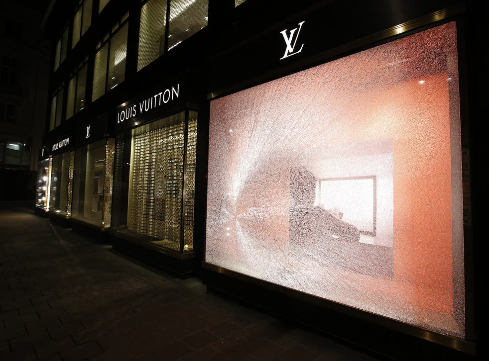 The Louis Vuitton store in Austria had its windows smashed by protesters last year