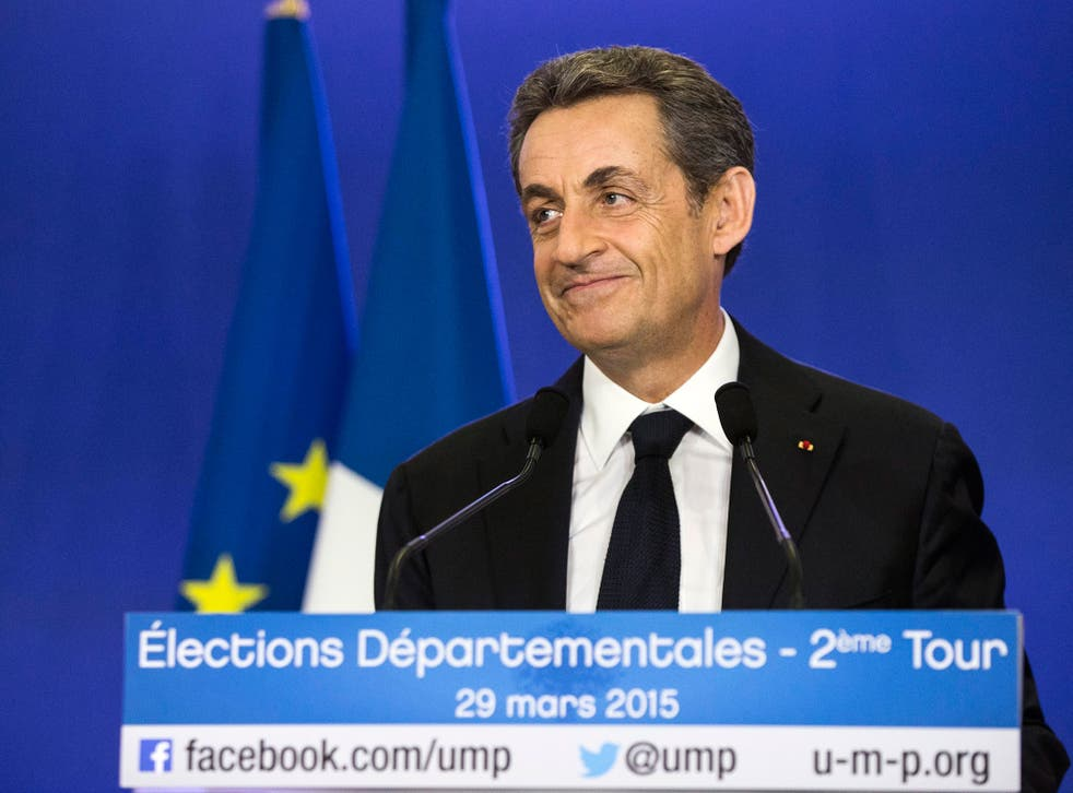 Nicolas Sarkozy's centre-right party scored a crushing victory in French local elections tonight, strengthening the former president's chances of a comeback in 2017