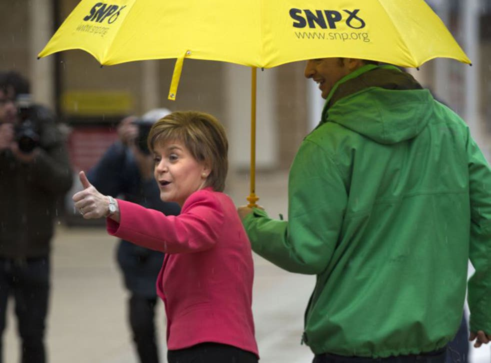 SNP leader Nicola Sturgeon on the General Election campaign trail in Glasgow Fort Shopping Park in the Glasgow East parliamentary seat