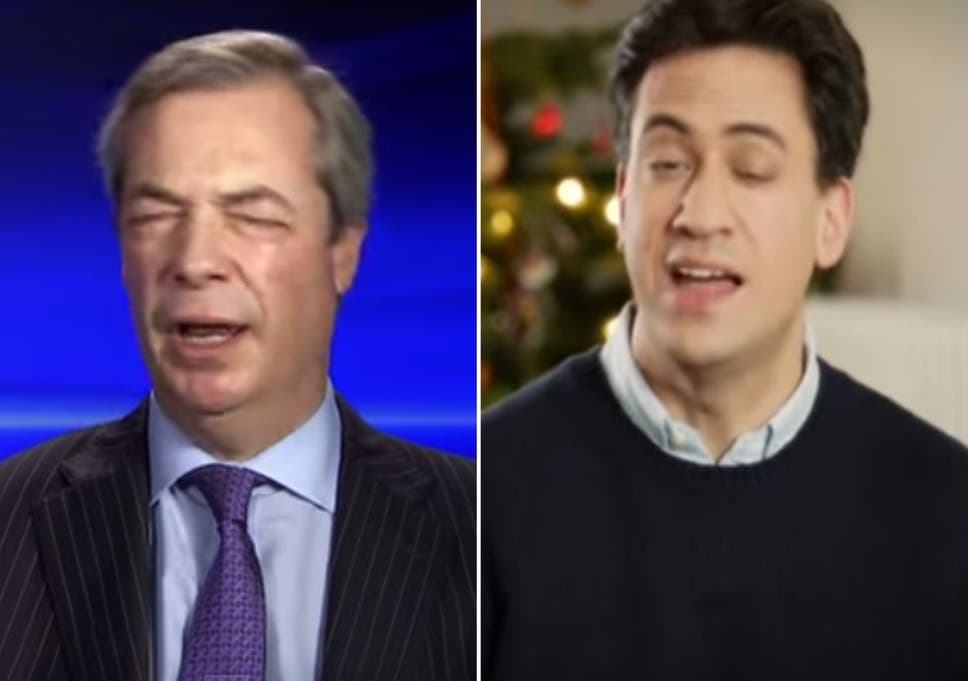 Ed Miliband And Nigel Farage Singing Their Hearts Out