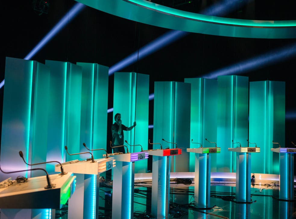 'No likey, no lighty?': The set of ITV Leaders' Debate 2015