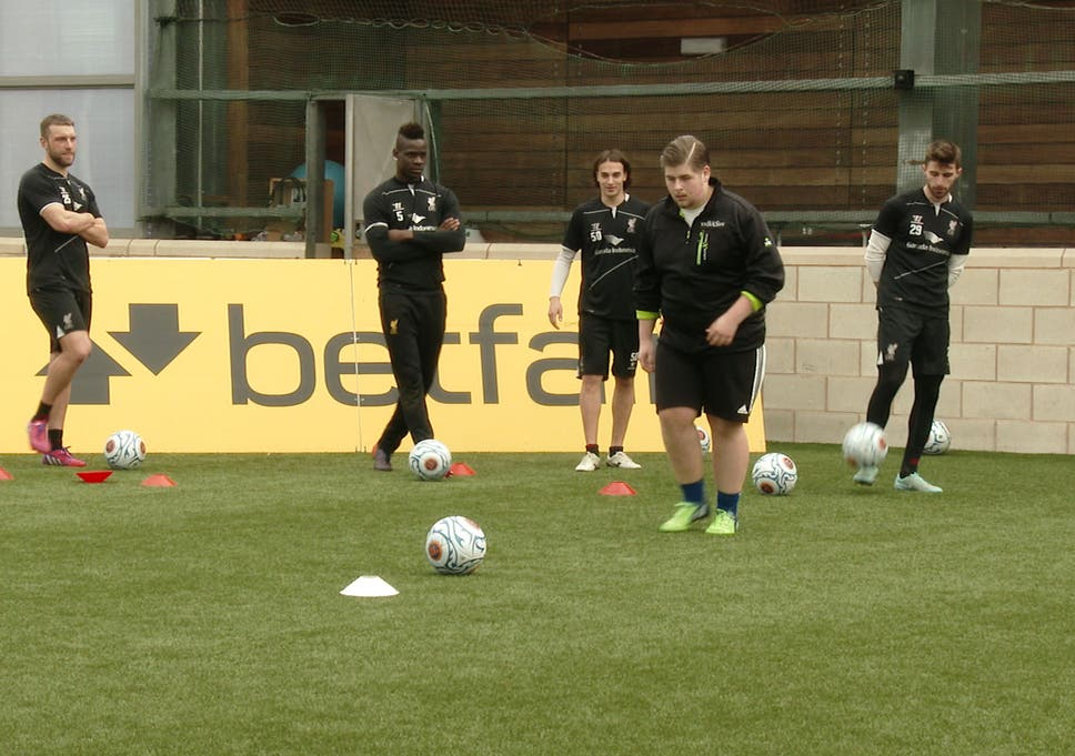 Bas Shows The Pro Footballers How Its Done