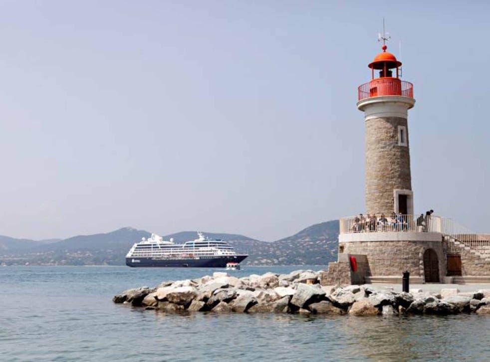 An Azamara ship at St-Tropez
