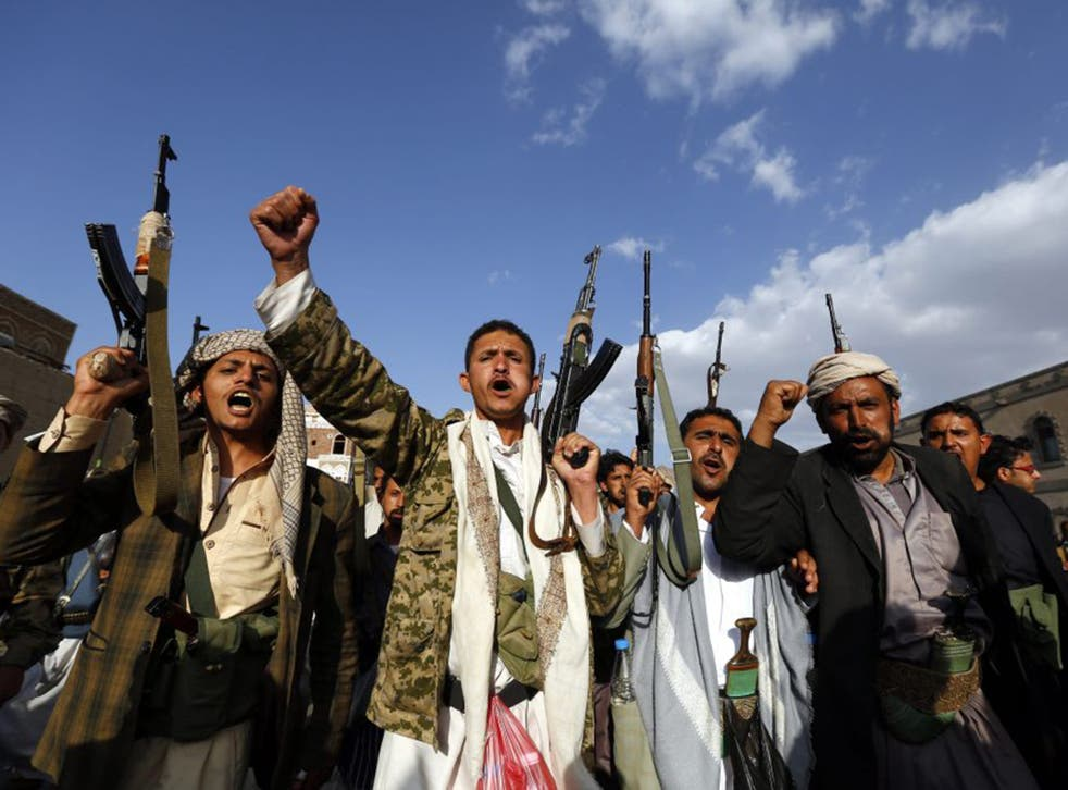 The Houthis, who come from the Zaidi tribes in Yemen's northern mountains, have an effective military and political movement called Ansar Allah, modelled on Hezbollah (EPA)