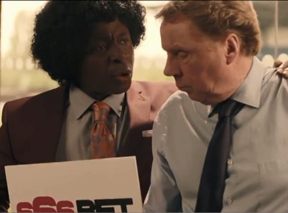 Actor Vas Blackwood and Harry Redknapp star in 666Bet's TV advert
