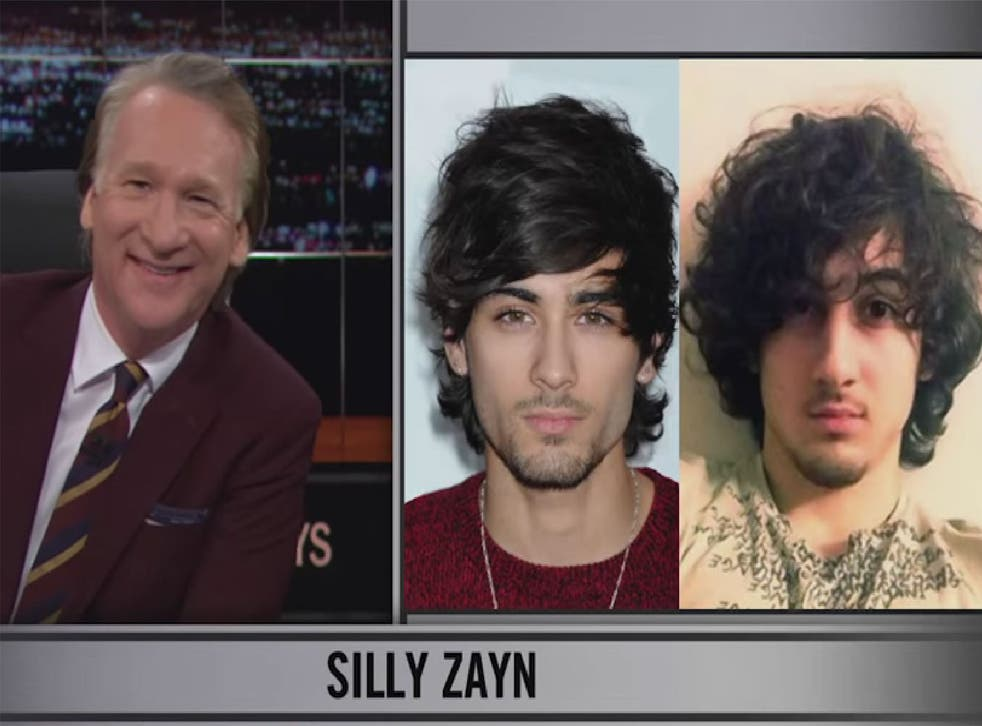 Bill Maher compared Zayn Malik to Boston Marathon bomber Dzhokhar Tsarnaev as the audience gasped